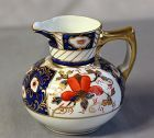 European Porcelain Creamer, Imari color