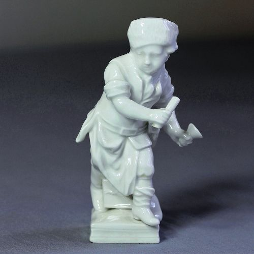 German Berlin white Porcelain Boy Figurine