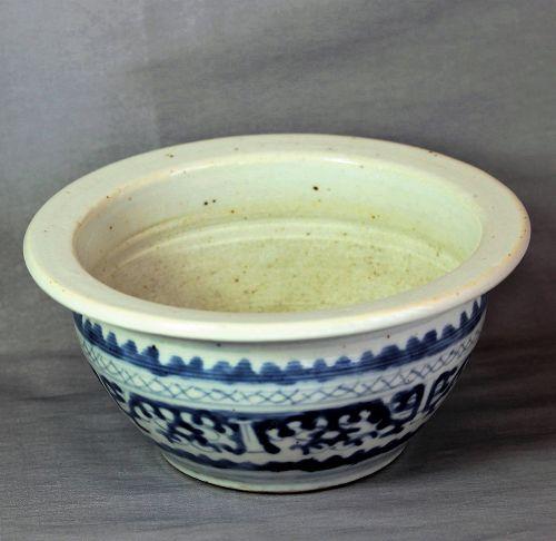Chinese Blue & White Porcelain Censer, Incense Burner