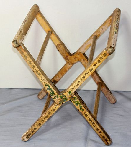 Painted Folding Wood Stand for tray