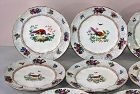 "11 English ""Booths"" Game Plates, retailed by ""Tiffany & Co."""