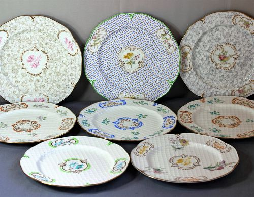 Eight(8) English Brown-Westhead Moore Co. Porcelain Dinner Plates