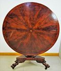American Empire Period Mahogany large round Center Table