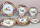 English Shelley Porcelain partial sets, 15 pieces, Old Sevres pattern