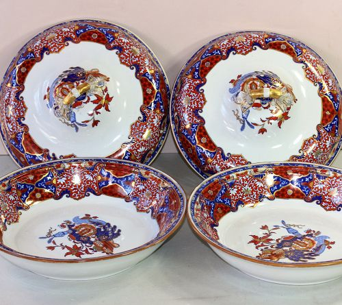 Pair English Spodes New Stone Imari color Tureen and cover