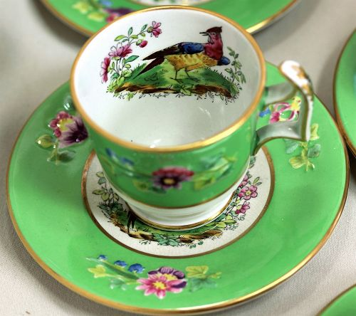 6 English Copeland Spode Demitasse Cups and Saucers