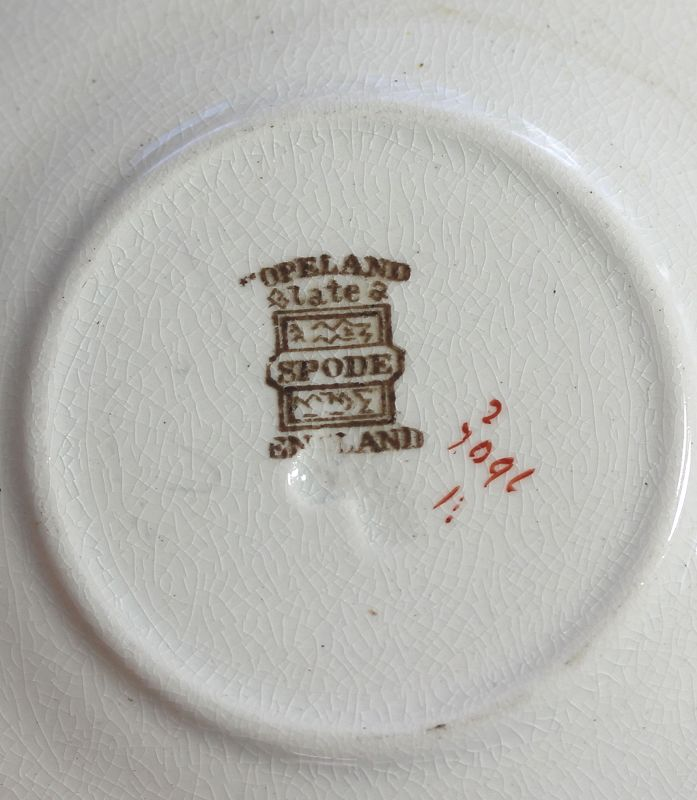 6 English Copeland Spode Stoneware Demitasse Cups and Saucers