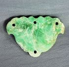 Chinese Jadeite Jade stone carved Lotus shape Pendant
