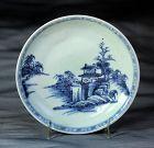 "Chinese Export ""Nanking Cargo"" blue & white porcelain Saucer"