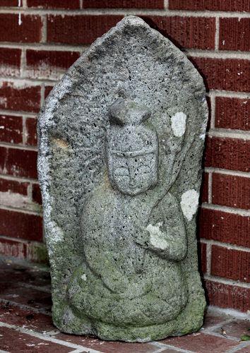 Japanese Stone Jizo, Bodhisattva Kannon