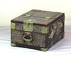 Korean Mother of Pearl inlaid Lacquer dressing Mirror box, 19th C.
