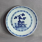 "Chinese Export ""Nanking Cargo"" Blue & White Porcelain Saucer, #5533"