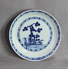 "Chinese Export ""Nanking Cargo"" Blue & White Porcelain Saucer, #5533"