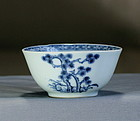 "Chinese Export ""Nanking Cargo"" Porcelain Blue & White Tea Bowl, #5528"