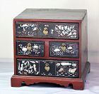 Korean Mother of Pearl inlaid Lacquer Jewelry Chest, Joseon Dynasty
