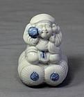 Japanese Hirado Porcelain Figure, Okimono Daikoku
