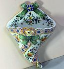 French Faience ConuCopia shape Wall Pocket