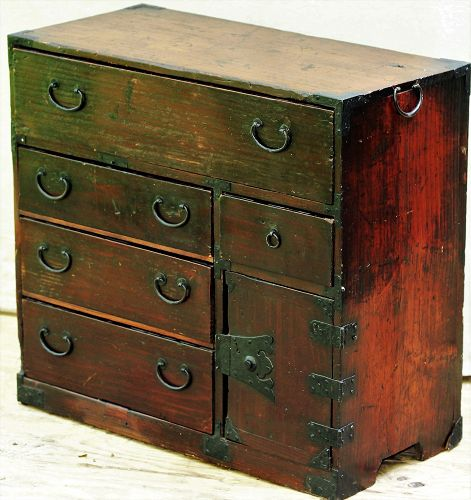 Japanese small Tansu, Meiji period