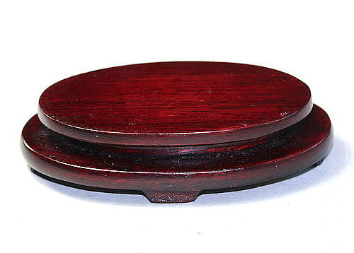 Chinese Hardwood small oval shape Display Stand