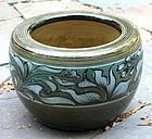 Chinese Stoneware round Planter, flower pot