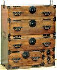 Japanese two(2) section Tansu,  Cedar wood chest on chest