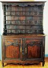 French Country Louise XV period dark oak Cupboard Buffet