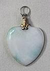 Chinese Jadeite Jade Heart Pendant