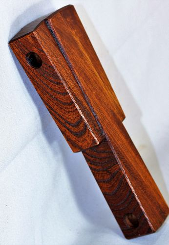 Japanese Carved Hardwood Hook, Cross Piece