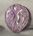 Chinese carved large Amethyst Pendant