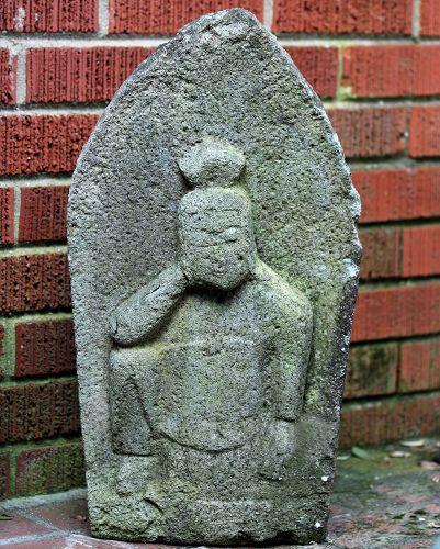 Japanese Stone Nyoirin Bodhisattva Sculpture