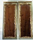 Pair French Louise XV Painted & Gold Pier Mirror