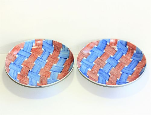 "Pair Japanese Nabeshima signed Porcelain Dishes, ""Kotobuki"""