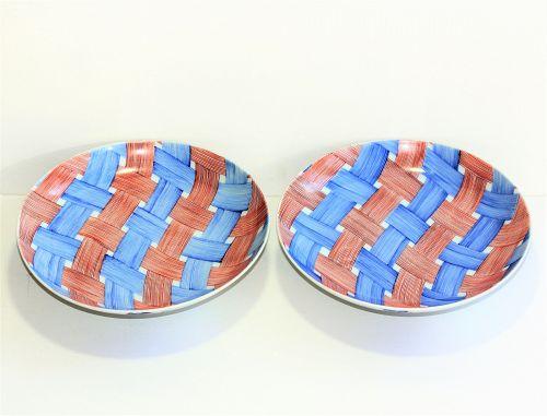 """Pair Japanese Nabeshima Porcelain Dishes, impressed mark  """"Kotobuki"""""""