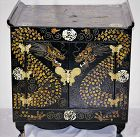 Korean Double Dragon Inlaid Lacquer Head Chest