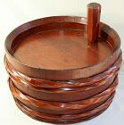 Japanese Chestnut color Wood Sake Barrel