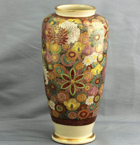 Japanese Satsuma Earthenware Vase