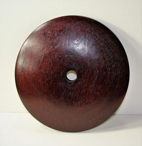 "Chinese Hardwood Lamp Top, Cover, made in ""Hong Kong"""