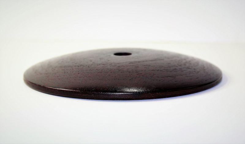"Chinese Hardwood Lamp Top, Cover, made in ""Hong Kong"""