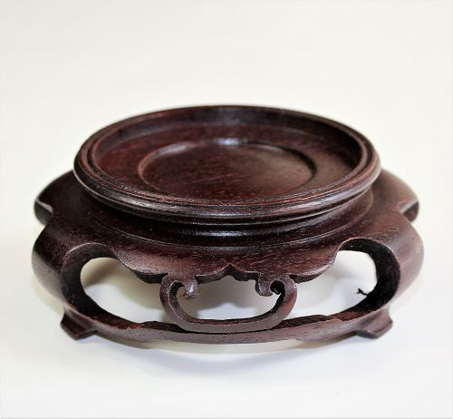 Chinese Hardwood round brown display Stand