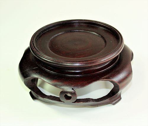 Chinese Hardwood round dark brown Display Stand, made in Hong Kong