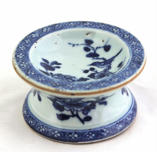 Chinese Export  Nanking Blue & White Porcelain Salt Cellar