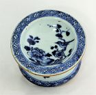 Chinese Export  Nanking Blue & White Porcelain Salt Cellar