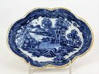 Chinese Export Nanking Blue & White Porcelain Spoon Rest
