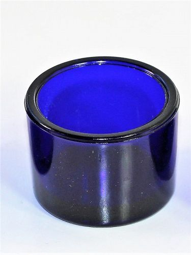 English Cobalt Blue Glass Liner, insert