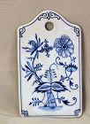 German Meissen Porcelain Blue Onion pattern cheese cutting board