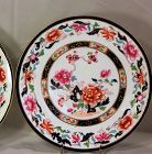 Pair English Porcelain Plates, Peony flower & rock garden
