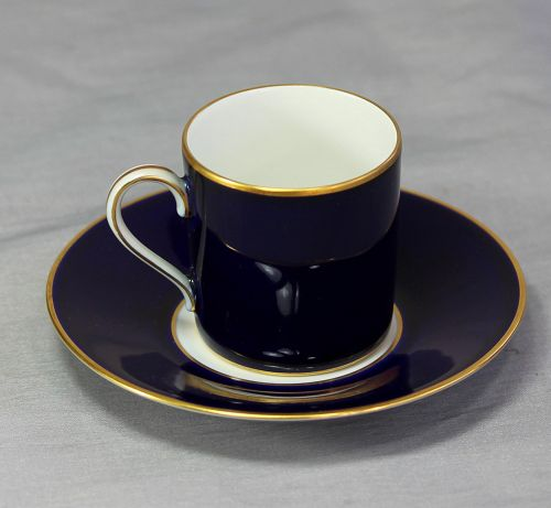 German Rosenthal Porcelain cobalt blue Demitasse Cup & Saucer