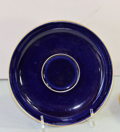 German Porcelain Cobalt Blue deep Saucer