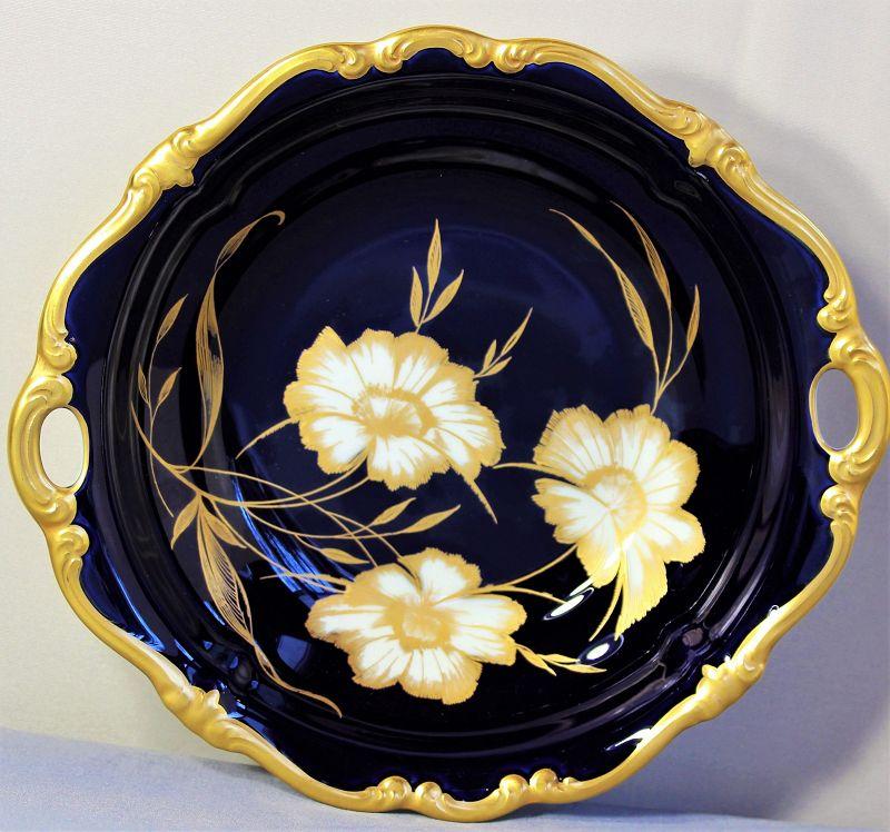 German Rosenthal Porcelain Serving Bowl with 2 handles