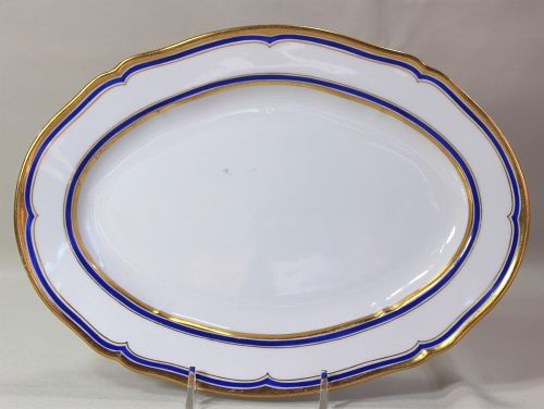German KPM Royal Berlin Porcelain oval serving Platter